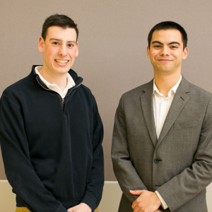 Ian Miller and Jason Weis selected for the Petit Research Scholars Program